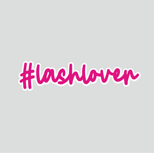 #Lashlover Sticker