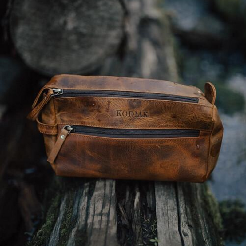 Kodiak Leather Toiletry Bag