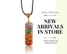 Load image into Gallery viewer, Healing Chakra Orgone Pendant with authentic natural Crystals for EMF Protection |ORGONITE Energy Generator for Balancing Chakras - Stress Relief, Meditation & Yoga Jewelry.