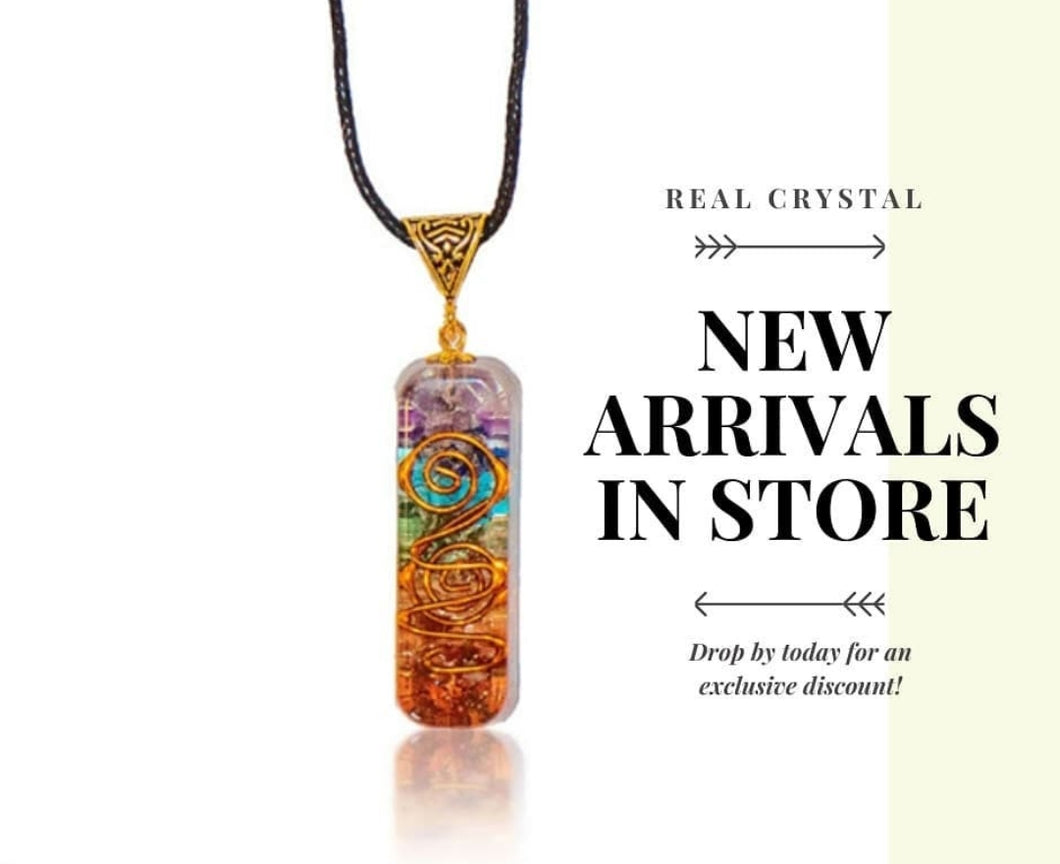 Healing Chakra Orgone Pendant with authentic natural Crystals for EMF Protection |ORGONITE Energy Generator for Balancing Chakras - Stress Relief, Meditation & Yoga Jewelry.