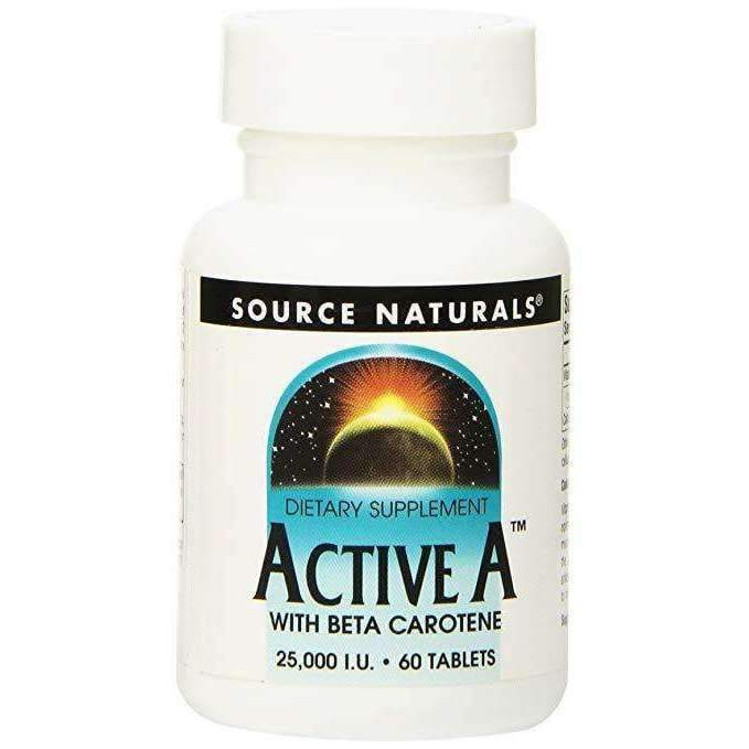 Active A with Beta Carotene 25,000 IU 60 Tablets