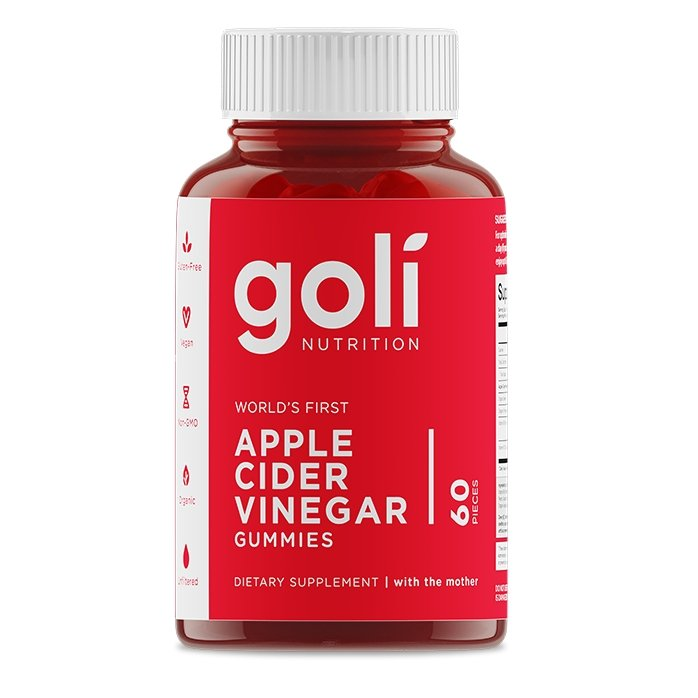 Goli nutrition Apple Cider Vinegar  60 Gummies