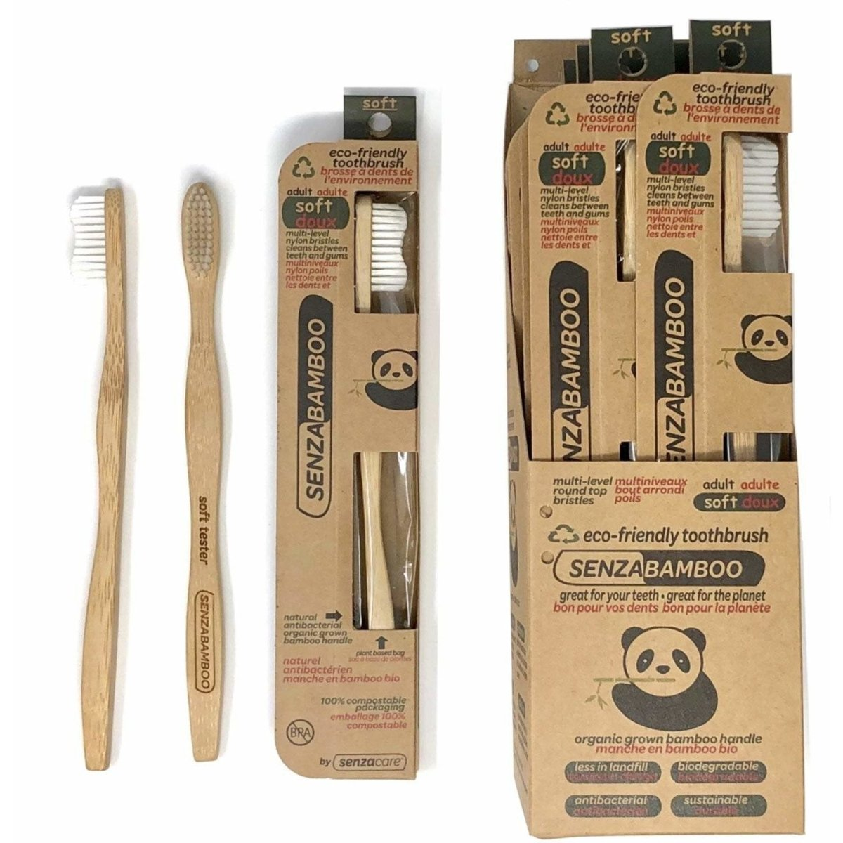 Bamboo Thoothbrush Soft Adult - 1 Unit