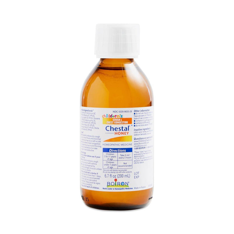 Bioron Chestal Childrens Cough, Chest Congestion Relief Syrup, Honey 6.7 oz