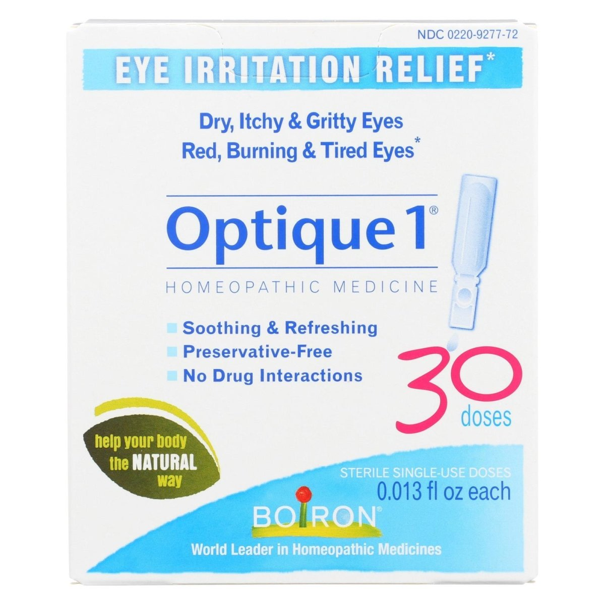Boiron optique 1 Eye Irritation Relief Eye Drops, 30 doses