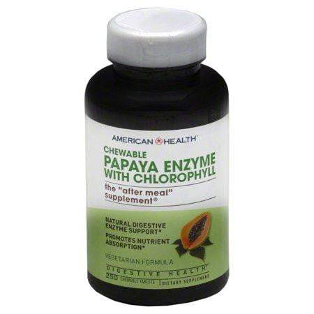 Chewable - Papaya Enzyme with Chlorophyll - 250 Chewable Tablets