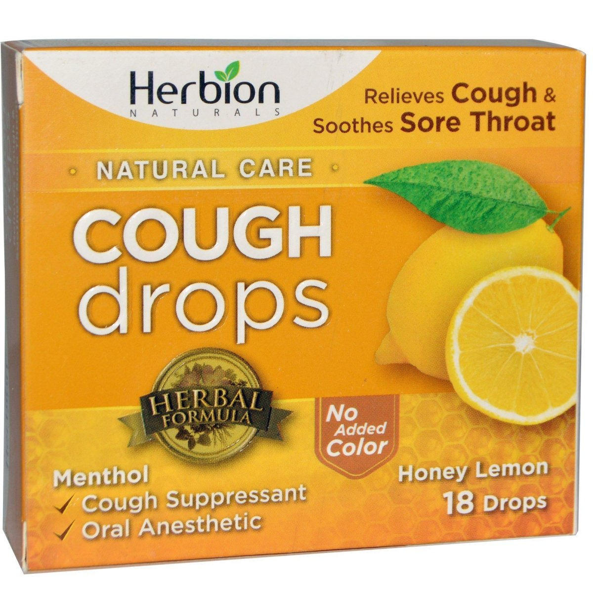 Cough Drops 18 Drops - Honey Lemon