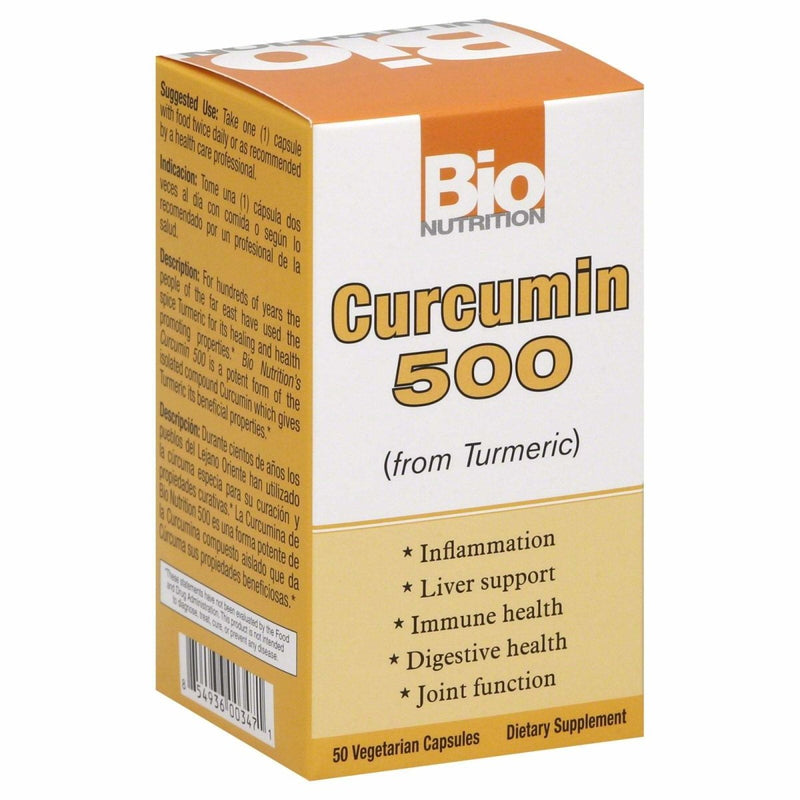 Curcumin 500 (From Turmeric) - 500mg - 50 Vegetarian Capsules