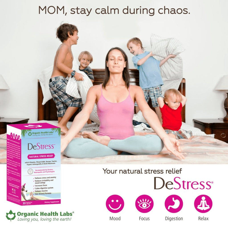 DeStress - Natural Stress Releif - 30 Vegetarian Capsules