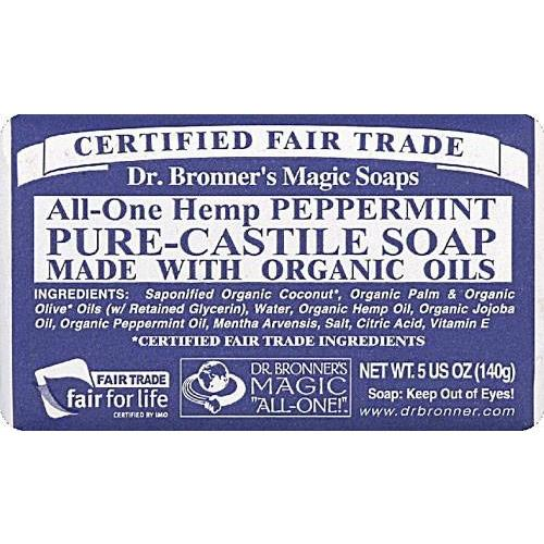 Dr. Bronners Organic Bar Soap - Peppermint -5 oz