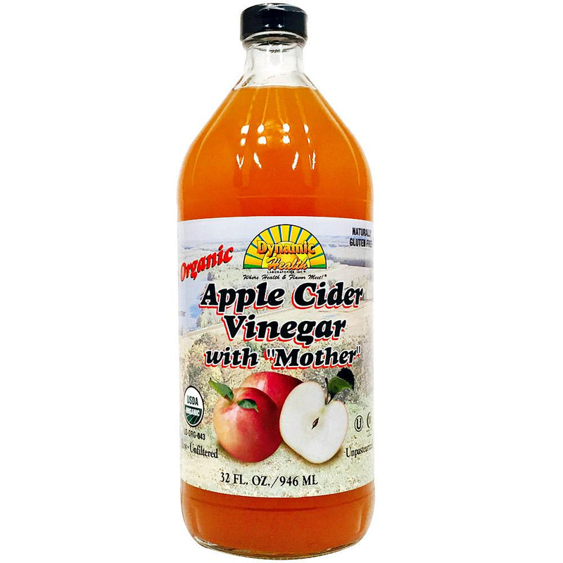 "Dynamic Health - Organic Apple Cider Vinegar with ""Mother"" - 32 oz."