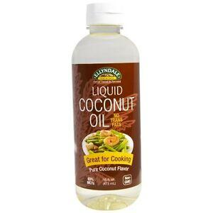 Ellyndale Organics - Liquid Coconut Cooking Oil, Pure Coconut Flavor, No Trans Fats, Certified Non-GMO 16-Ounce
