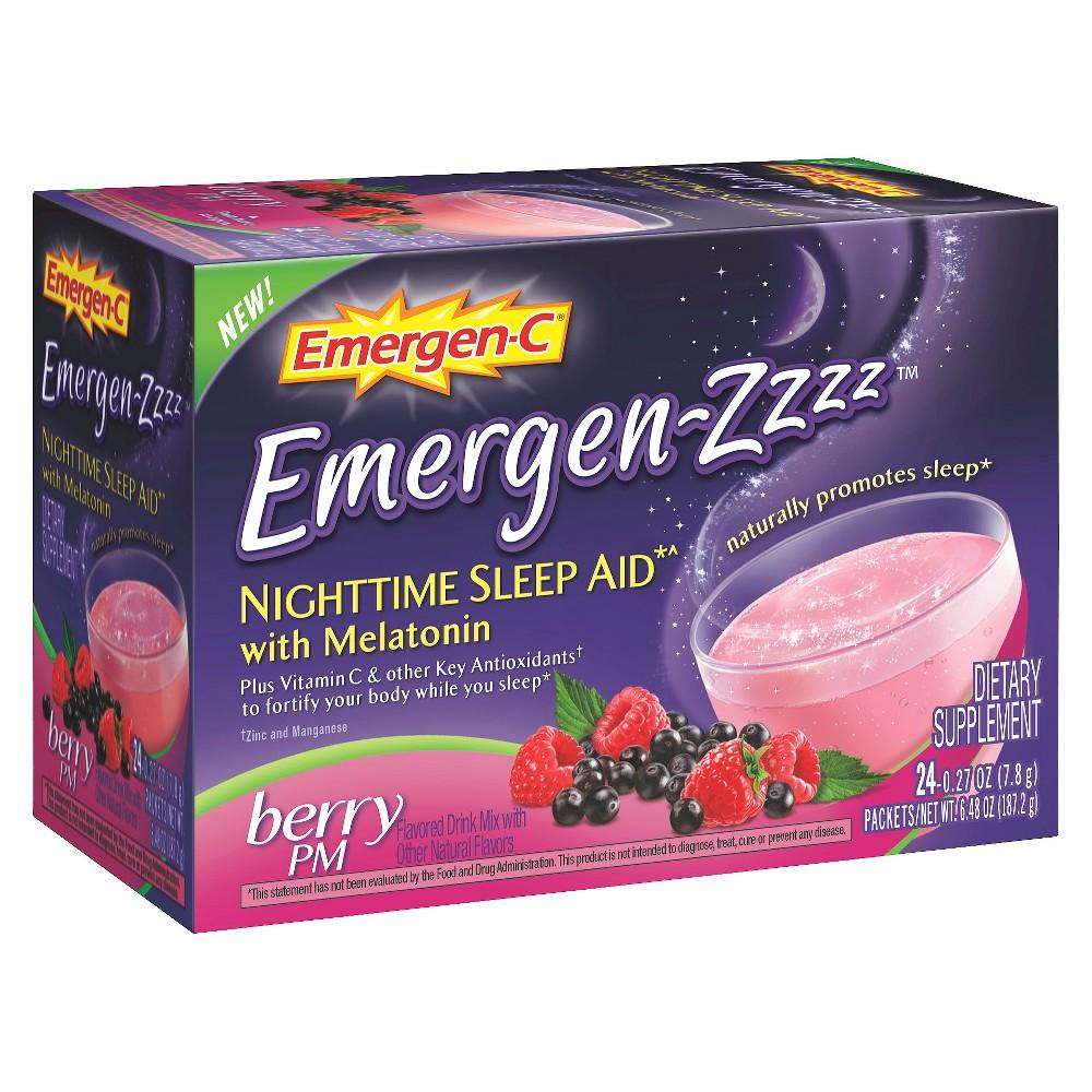 Emergen-zzzz Nighttime Sleep Aid with Melatonin, Berry, 24 ea