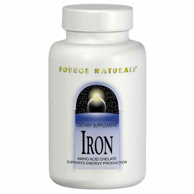 Iron - Amino Acid Chelate Supports Energy Production 25mg 100 Tablets
