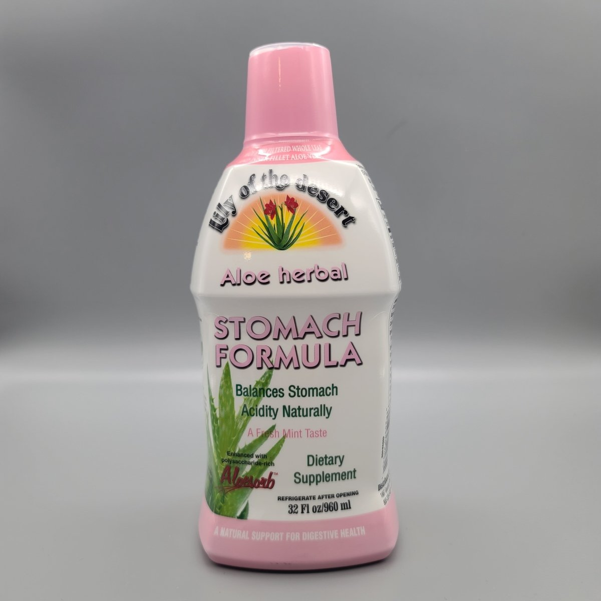 Lily Of The Desert Organic Aloe Vera Gel Herbal Stomach Formula 32 oz