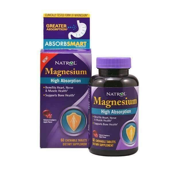 Magnesio Alta Absorción 250Mg - 60 Chewable Tablets