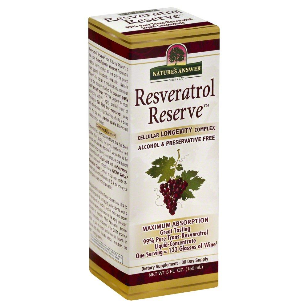 Natures Answer 327239 Resveratrol Reserve Alcohol Free 5 Fl Oz