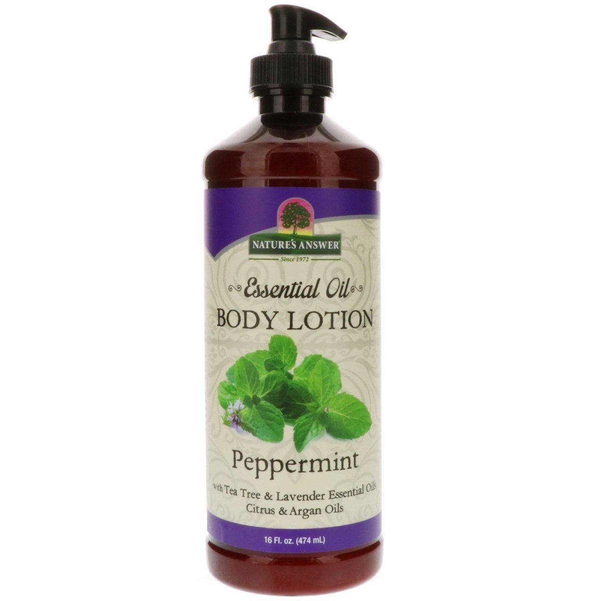Nature's Answer Essential Oil Body Lotion Peppermint -- 16 fl oz