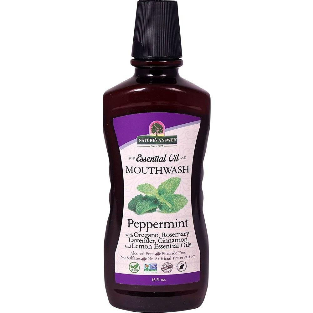 Nature's Answer Essential Oil Mouthwash Peppermint -- 16 fl oz