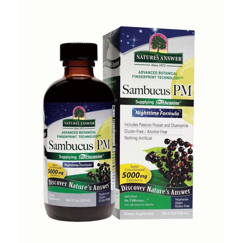 Nature's Answer Sambucus PM Nighttime Formula -- 5000 mg - 4 fl oz