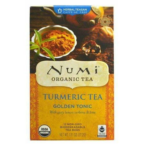 Numi Tea Organic Turmeric Tea, Golden Tonic - 12 Bag