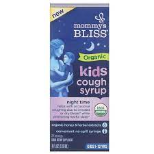Organic Kids Cough Syrup & Mucus Relief Night Time 4OZ