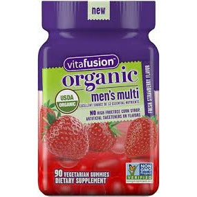 Organic Men's Multi Strawberry 90 Gummy