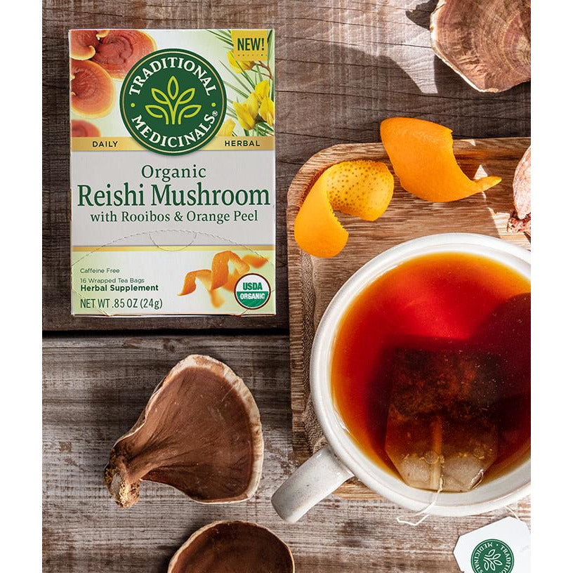 Organic Reishi Mushroom w/ Rooibos & Orange Peel Tea