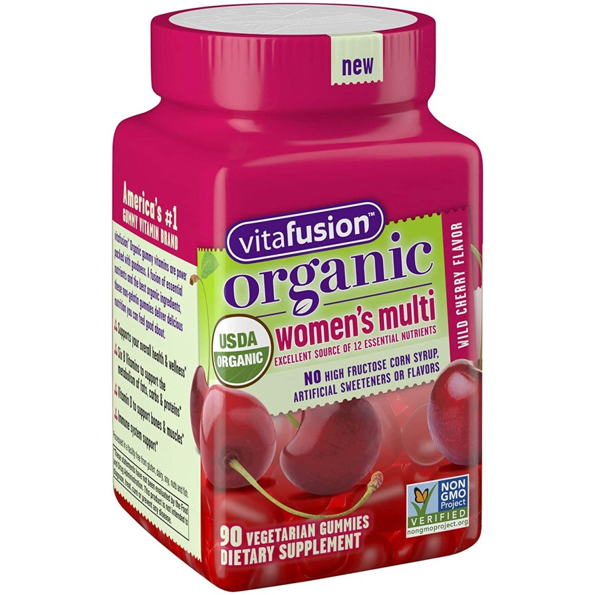 Organic Women's Multi Wild Cherry 90 Gummy
