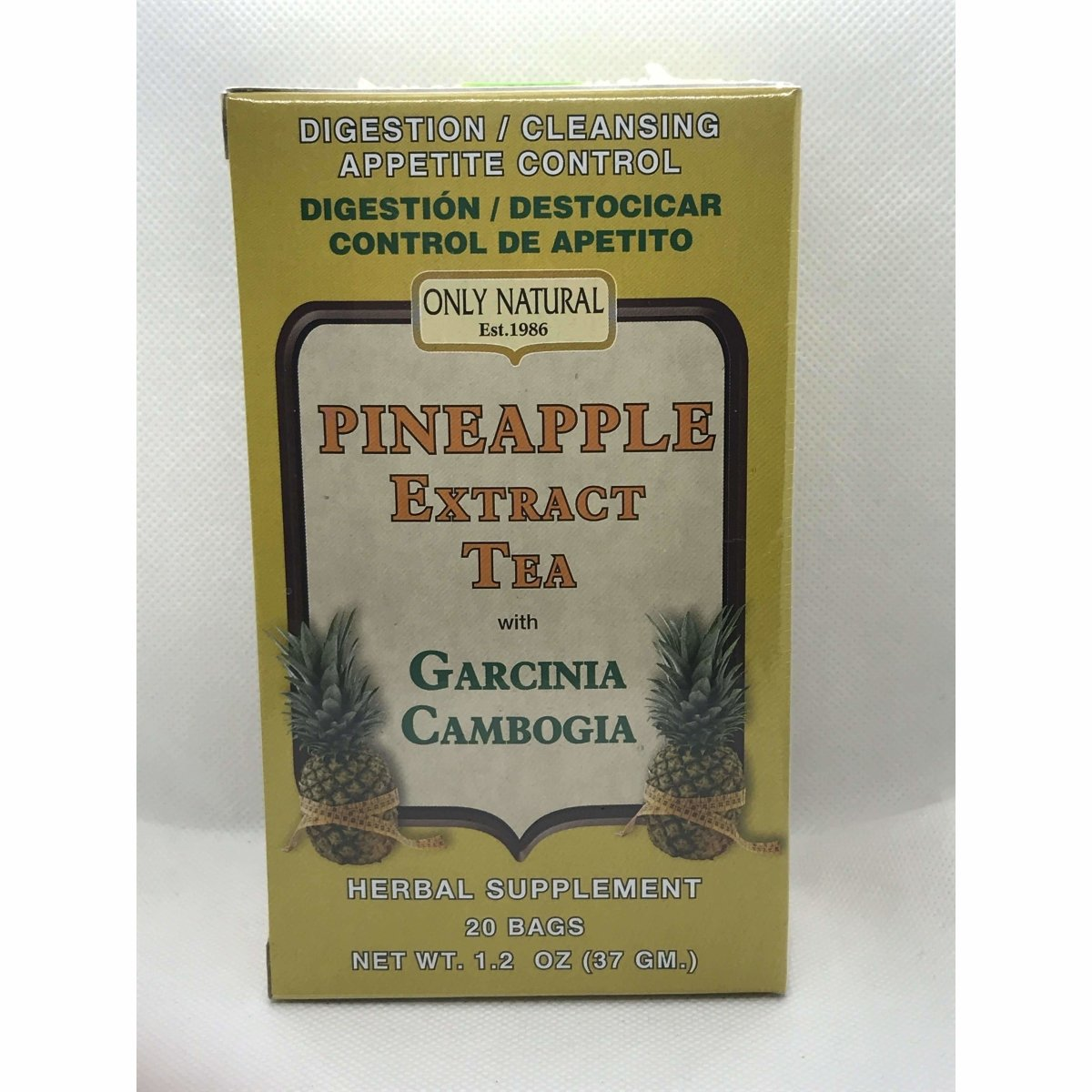 Pineapple Extract Tea with Garcina Cambogia 20 Teabags