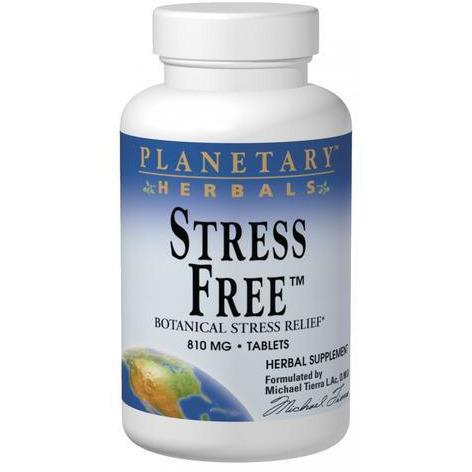 PLANETARY HERBALS, Stress FreeTM Calm Formula - 10 tabs