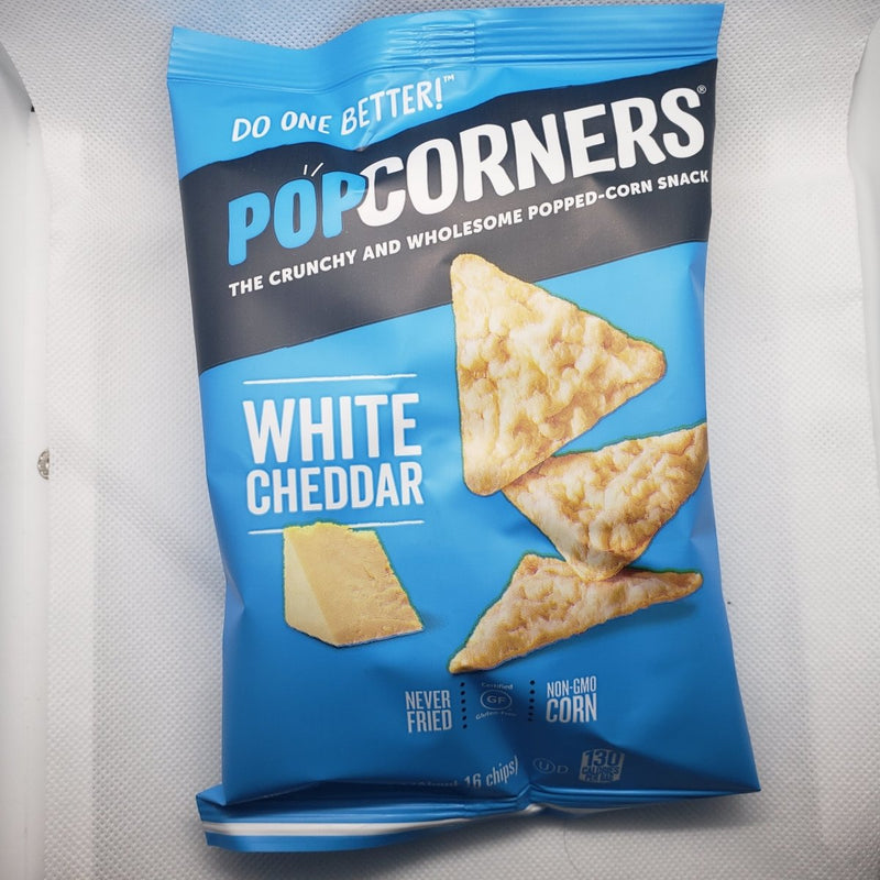 Pop Corners - White Cheddar - Popped-Corn Snack - 1oz