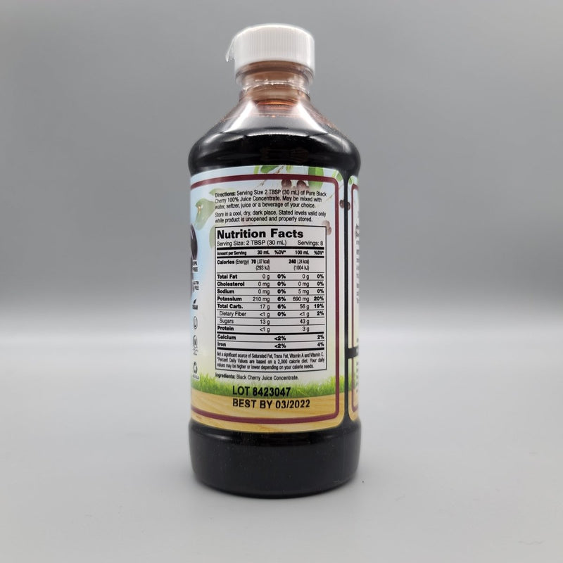 Pure Black Cherry - Unsweetened 100% Juice Concentrate 8 Oz