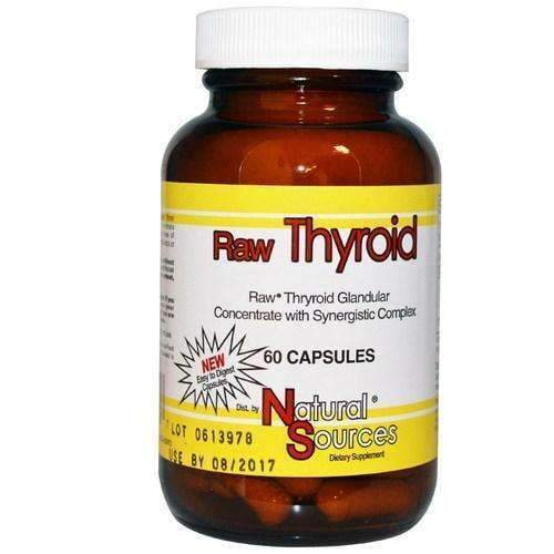 Raw Thyroid 60 Capsules