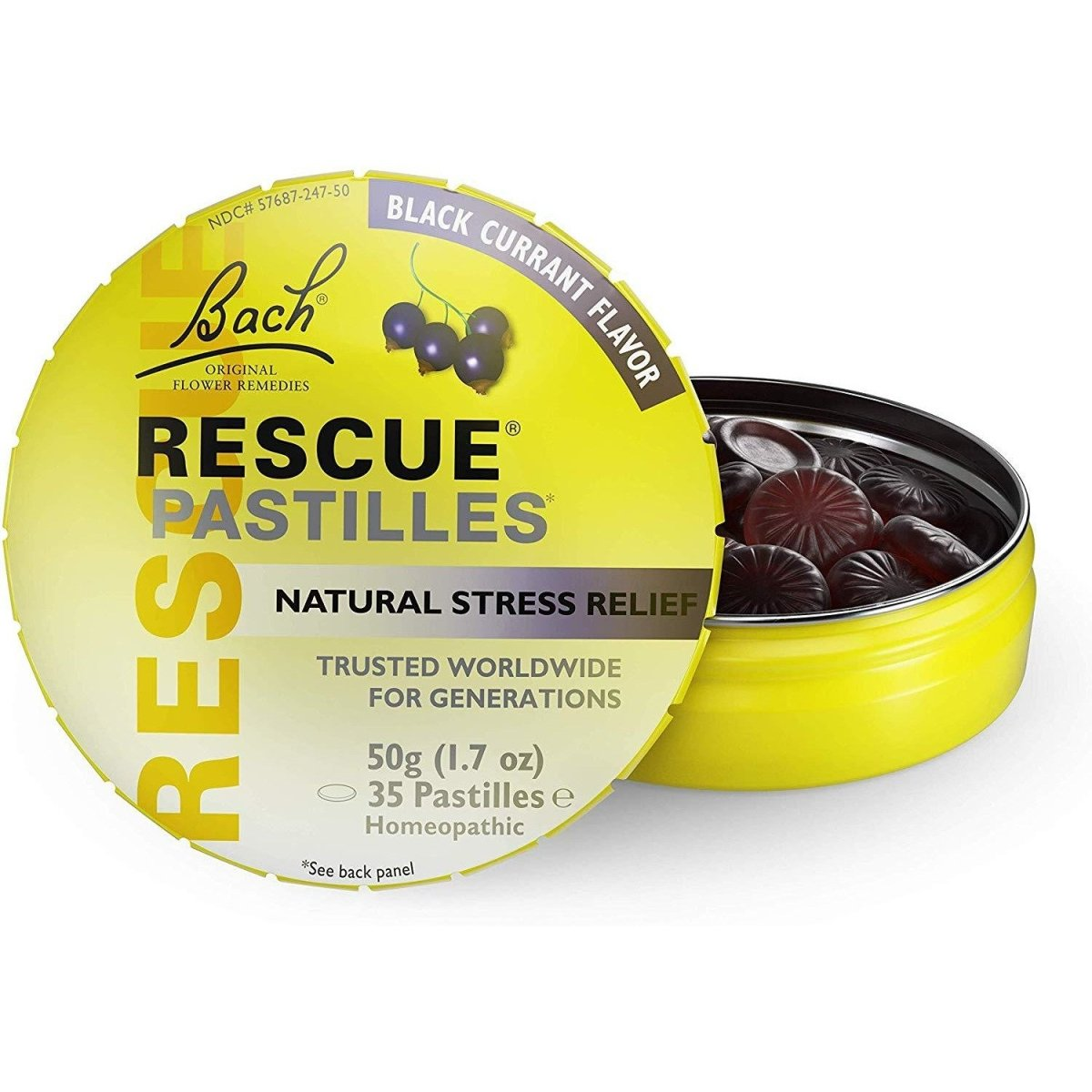 Rescue Pastilles - Natural Stress Relief - Black Currant - 12 Units Display
