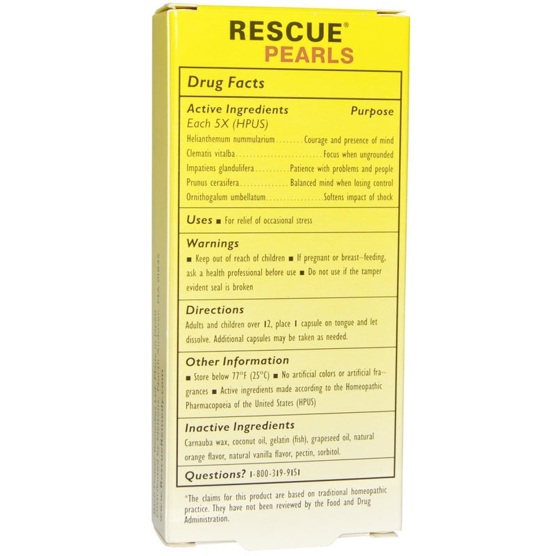 Rescue Pearls - Natural Stress Relief - 28 Caplets
