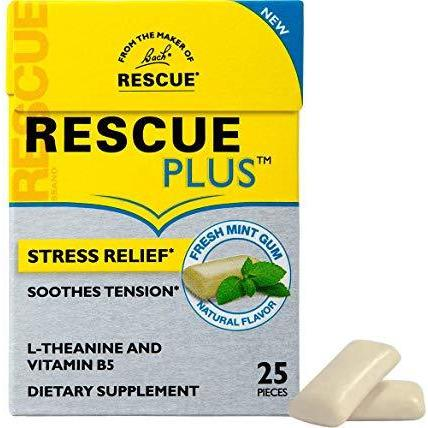 Rescue Plus - Chewing Gum - Fresh Mint - 25 Pieces