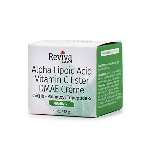 Reviva Labs Alpha Lipoic Acid Vitamin C Ester and DMAE Crème -- 2 oz