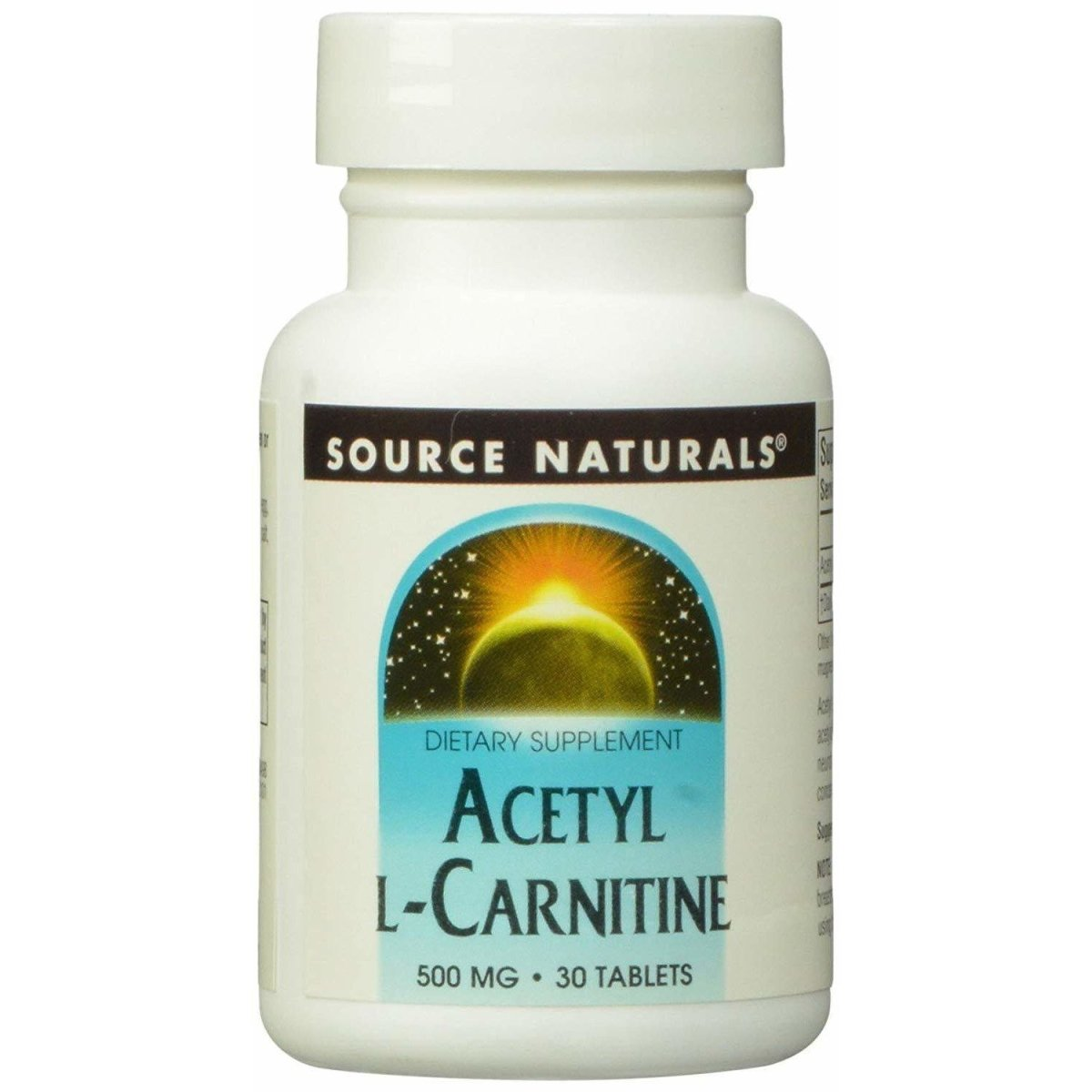 Source Naturals Acetyl L-Carnitine 500mg, 30 Tablets