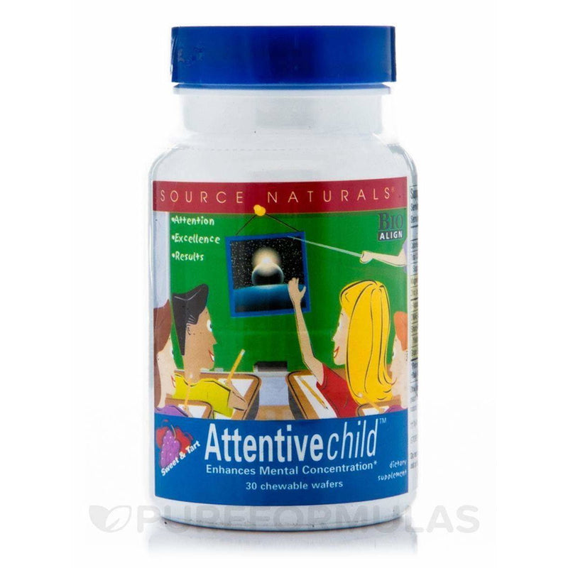 Source Naturals Attentive Child - 30 Fruit Wafers