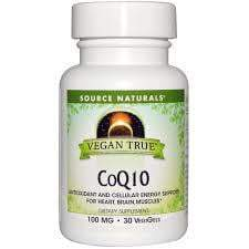 Source Naturals - Vegan True™ CoQ10 - 100 mg - 30 VegiGels