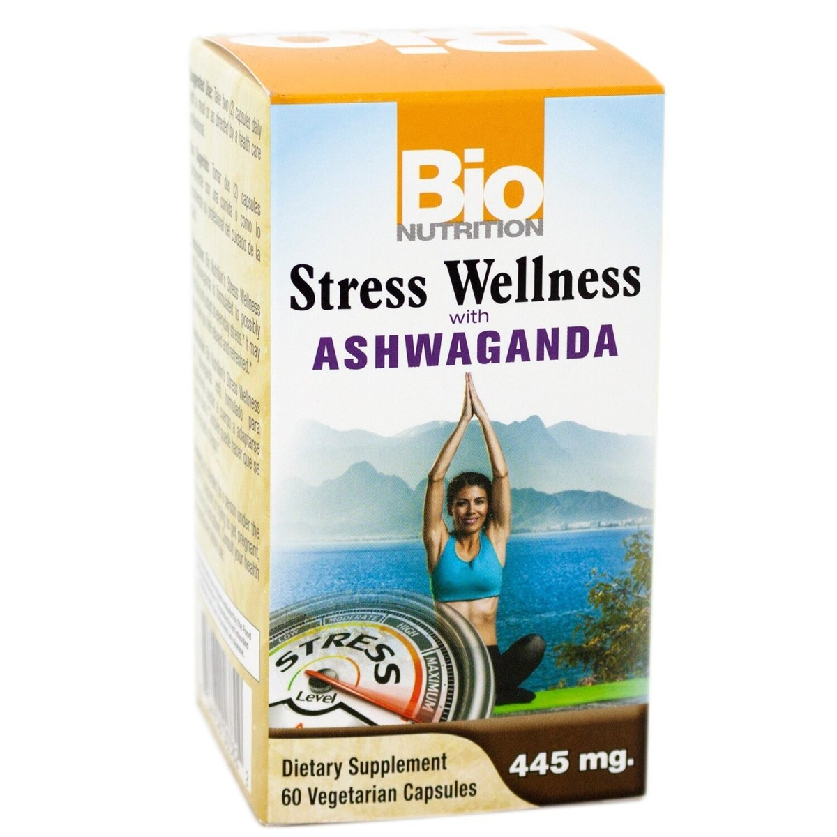 Stress Wellness with Ashwaganda - 445mg - 60 Vegetarian Capsules
