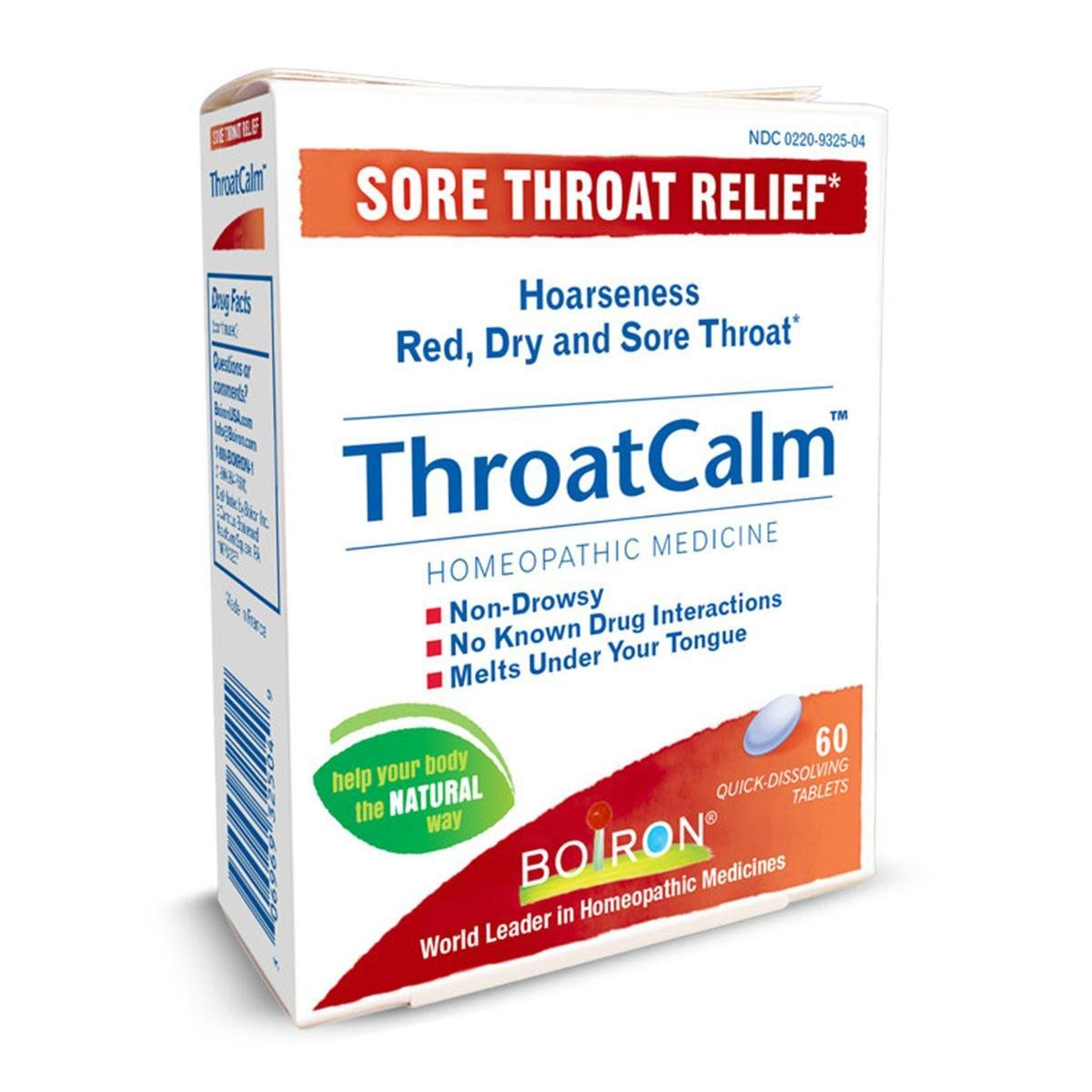 Throat Calm - Sore Throat Relief - 60 Tablets