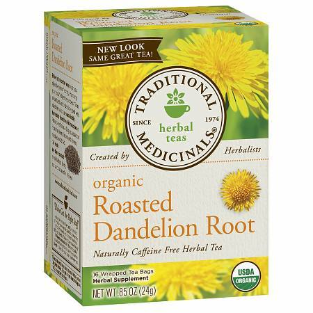 Traditional Medicinals Caffeine Free Organic Herbal Tea Dandelion Root