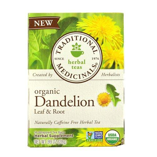 Traditional Medicinals Dandelion Leaf and Root - 16 Bags, 6 Pack