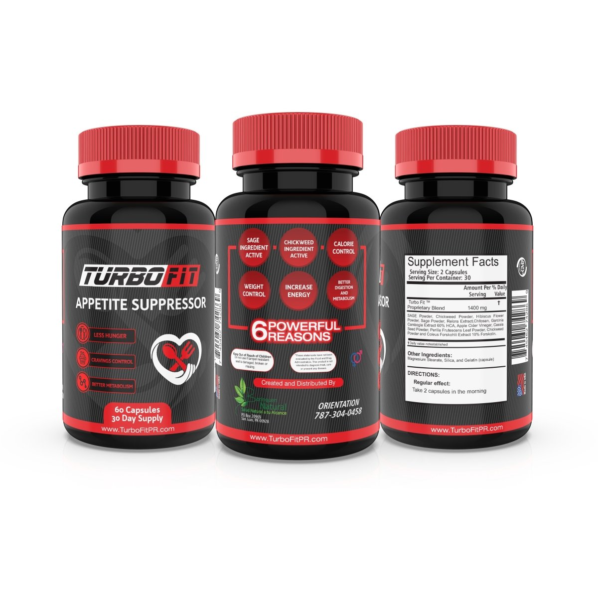 Turbo Fit - Appetite Suppressor - 60 Capsules