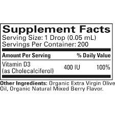 Vitamin D3 Mixed Berry Flavor 1 OZ