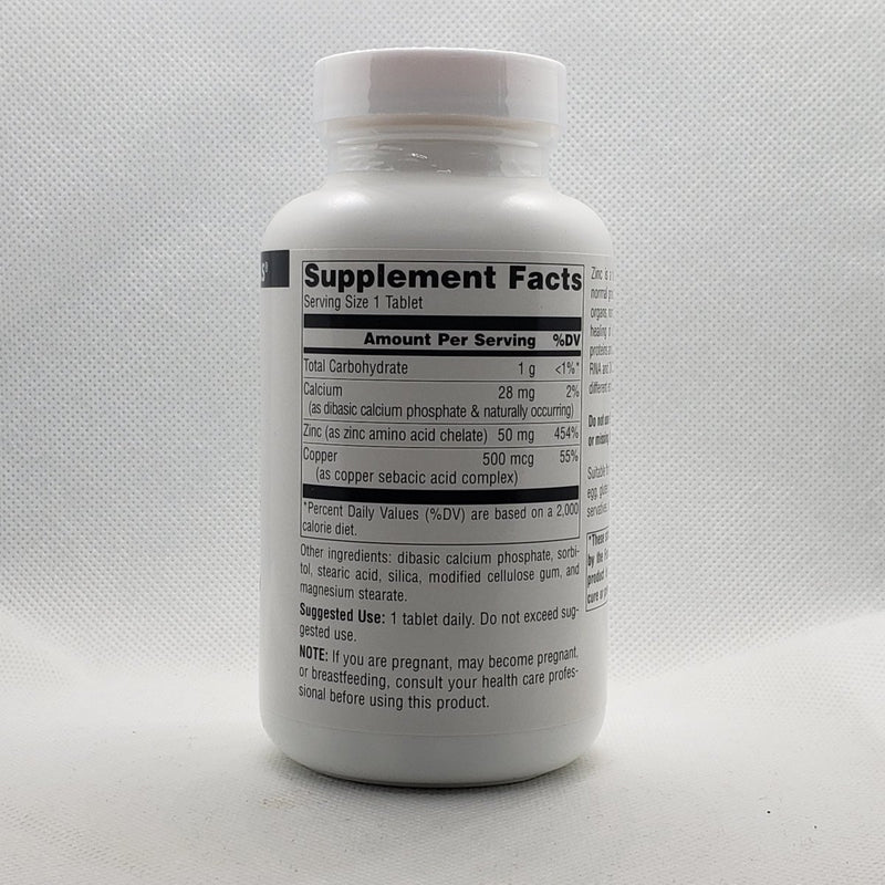 Zinc - Amino Acid Chelate - 50mg - 250 Tablets