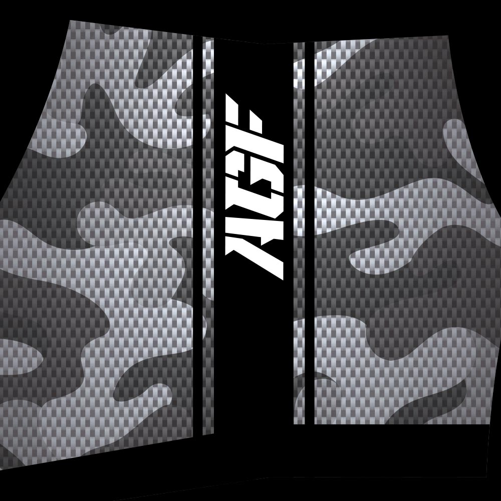 Gray / Black Camo Shorts