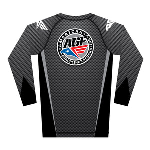 Grey Carbon Rash Guard (Long Sleeve)